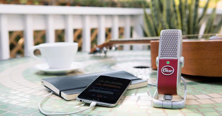 Blue Microphone推出唯一可接在手機上的電容式麥克風:Raspberry全裝置USB麥克風