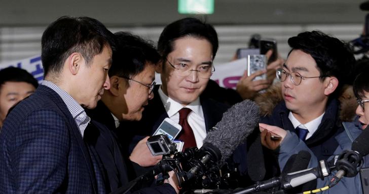 三星電子掌門人李在鎔正式遭韓國檢調單位逮捕