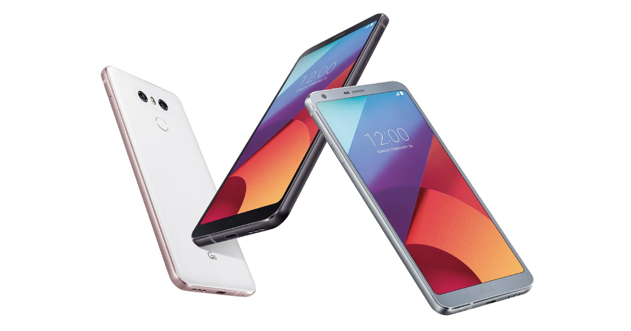 LG 發表年度新旗艦手機 G6,18:9 5.7 吋圓角螢幕、雙鏡頭廣角相機、IP68 防水防塵