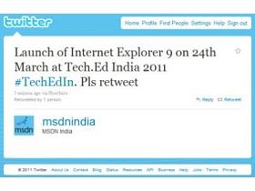 印度人洩密, IE9 正式版將在3月24日推出?