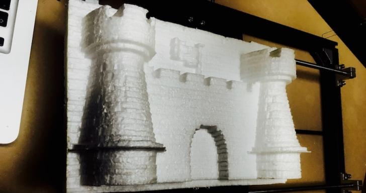 嫌3D列印太慢,那就用CNC切割寶麗龍取代吧