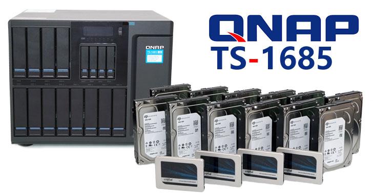 滿足龐大數據中央儲存需求!絕佳效能、強大擴充性的企業級NAS解決方案:QNAP TS-1685 開箱實測!