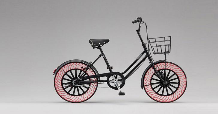 普利司通發表永遠不用充氣的自行車輪胎,騎在路上絕不爆胎、預計2019年開賣