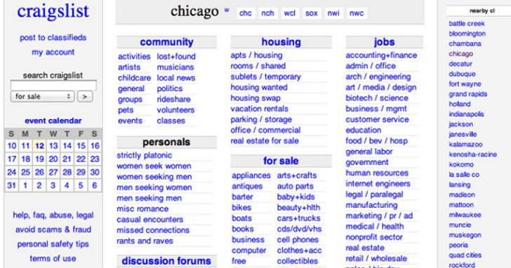 這個超醜的網站能打敗 eBay、微軟和 Google?分類廣告網站 Craigslist 的傳奇