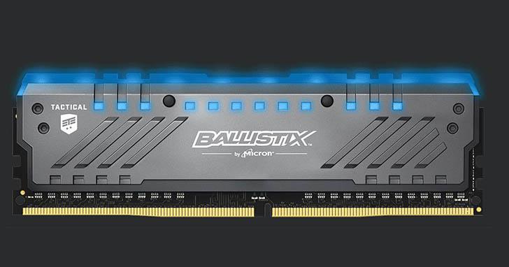 Ballistix 發表 Tactical Tracer DDR4 RGB 電競記憶體模組,電腦改裝高手與電競玩家可提升遊戲體驗及效能並增加個人化裝備風格