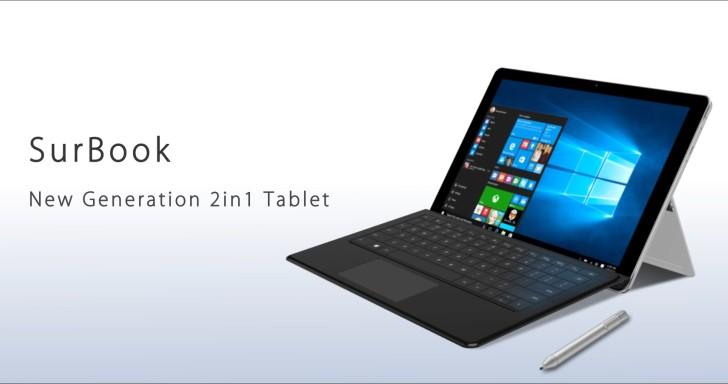 12.3吋Chuwi SurBook,激似 Surface 外觀搭輕省處理器、價格近台幣15,000元