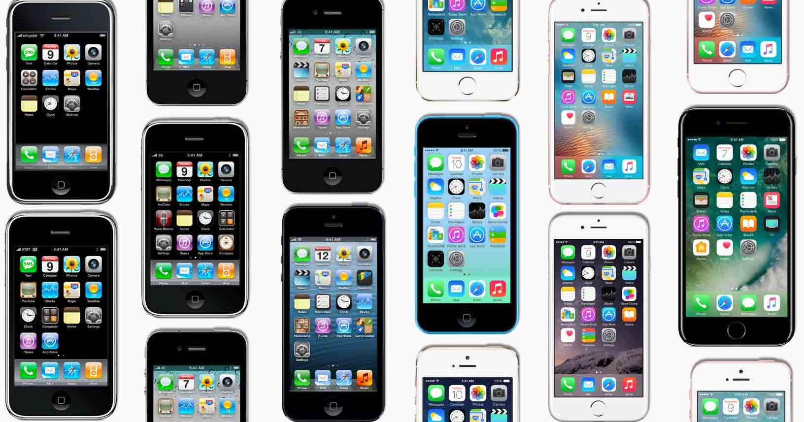 iPhone 10 周年!你曾經用過哪幾代的 iPhone 手機呢?
