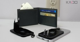 Kado超迷你充電器,不僅可收進皮夾還可藏於手機背面