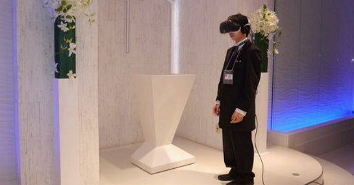 這間遊戲公司舉辦了日本第一場VR婚禮---但從第三者角度來看場面有點心酸