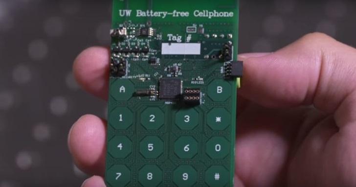 美國華盛頓大學發明免電池手機