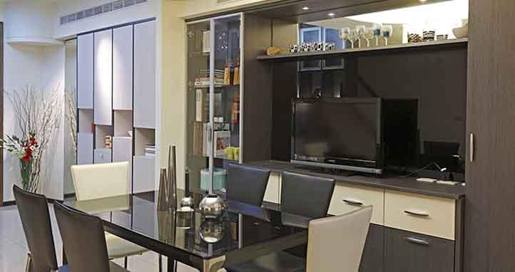 符合現代科技的裝潢術,為你的電視,客製專屬位置!