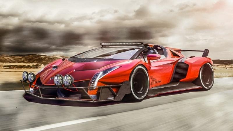 超跑也要絕命尬車!Bugatti Chiron、Lamborghini Veneno、Pagani Huayra,變身亡命戰車!