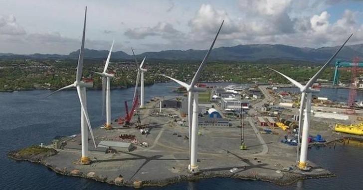 高175公尺的浮島式發電機,正式進入實驗階段