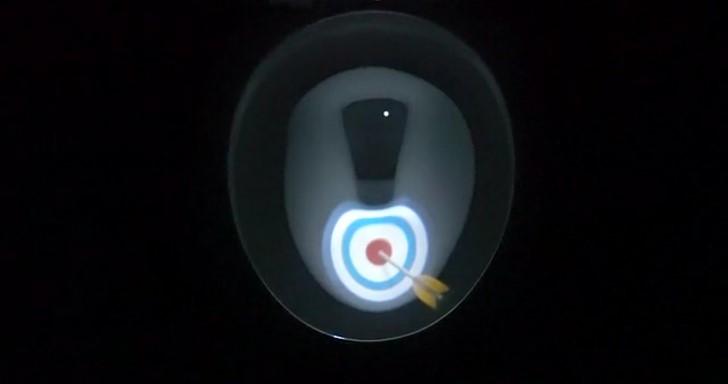Projector IllumiBowl廁所小夜燈,不但不刺眼還讓小便更好玩