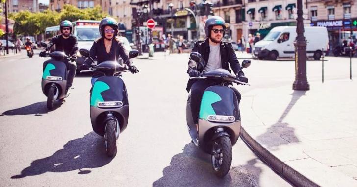 首批 400 台 Gogoro 在法國巴黎正式投入營運,騎 30 分鐘需 4 歐元