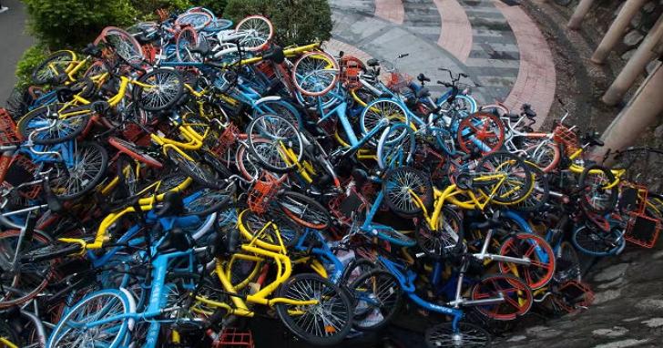 車滿為患!上海共享單車堆放問題成大災難,緊急暫停新增投放