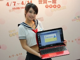2011年 春季電腦展,19位 Spring Girl 代言新品