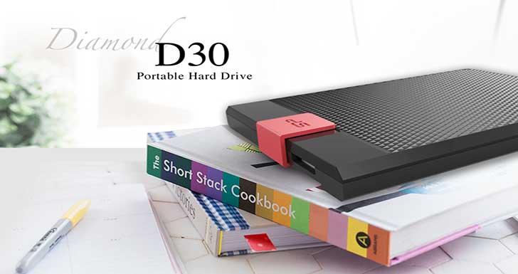 開卷有「憶」  美型.滑蓋.大容量 SP廣穎電通發表全新外接式硬碟-Diamond D30