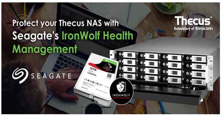 Seagate IronWolf健康管理將帶給Thecus NAS更完善的防護  大幅延長您的Thecus NAS壽命