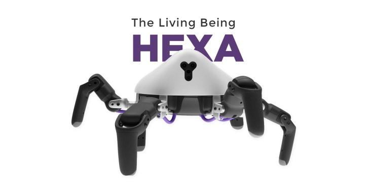 6足仿生蜘蛛型機器人HEXA,具有高機動性還可自由升級