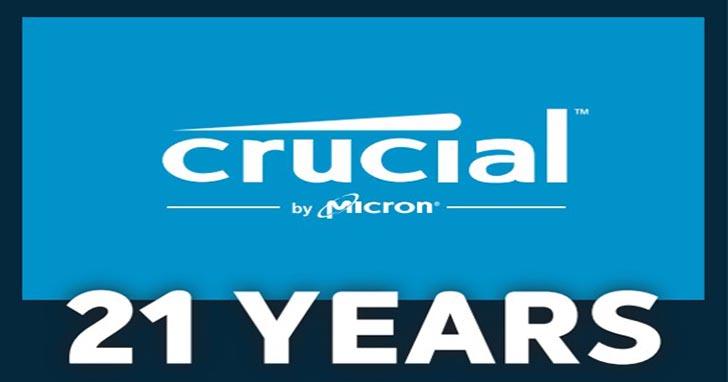 Crucial 歡慶 21 週年,感恩全民愛用 持續擴大記憶體和 SSD 產品線、深化 Ballistix 電競記憶體