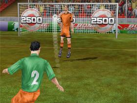 iPhone 小遊戲,Football Kicks 挑戰你的射門技巧