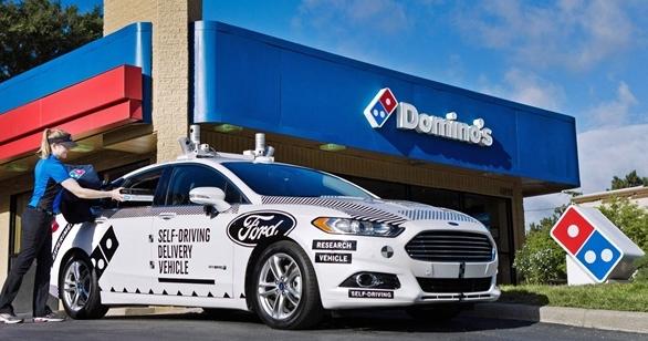 自動駕駛車外送 Pizza!福特和達美樂合作試辦無人車外送服務