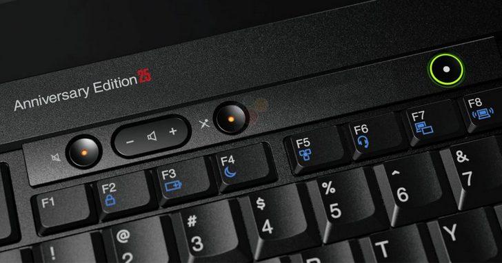 經典 ThinkPad 誕生25 週年,Lenovo 推出復刻限定版 ThinkPad Anniversary Edition 25