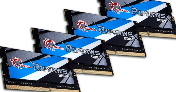 G.SKILL 推出等效時脈高達 DDR4-3800MHz 的 SO-DIMM 記憶體模組套件