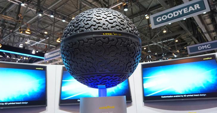 搭載智慧技術,Goodyear球形輪胎亮相東京車展