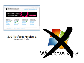 Vista 哭哭,IE10 預覽版只支援 Windows 7