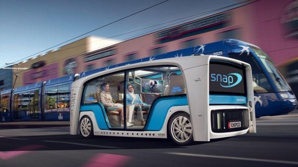 「巴士」也要搭上自駕熱潮,CES電子展這台巴士「底盤」可以自己趴趴走!