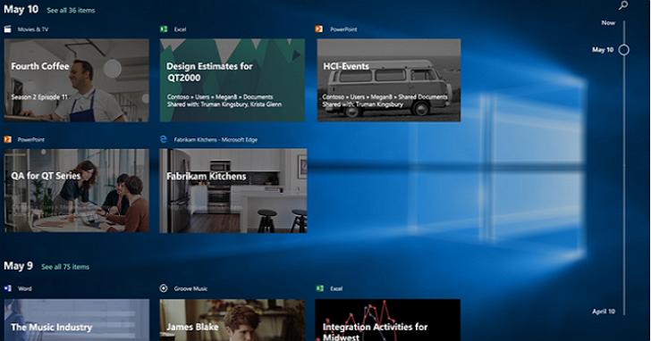 Windows 10 的新功能「時間軸」即將上線,首批先向Insider測試人員推出