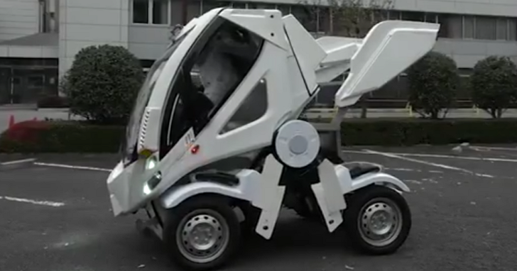 外觀來自鋼彈機械設定師 大河原邦男 親手設計,這是最接近動漫的可變形電動車
