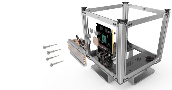 Streacom推出無風扇顯示卡散熱套件,把自家DB4機殼當成超大散熱片