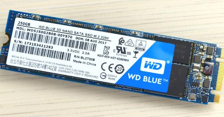新一代小容量 3D TLC SSD 表現釋疑,WD Blue 3D NAND SATA SSD M.2 250G 測試報告
