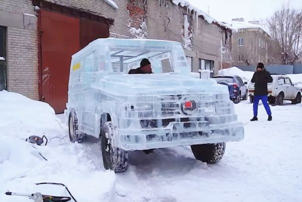 史上壽命最短的G-car ?冰塊做的Mercedes-Benz G-Class有沒有看過!