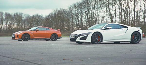 「東瀛雙強」正面對決,Honda NSX vs Nissan GT-R「直線加速」誰與爭鋒!?
