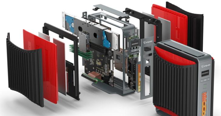 K 版處理器以及 GTX 1080 顯示卡也可以無風扇被動散熱,Compulab Airtop2 Inferno 募資中