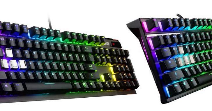 微星發表專為玩家打造,全新Cherry MX RGB機械式電競鍵盤
