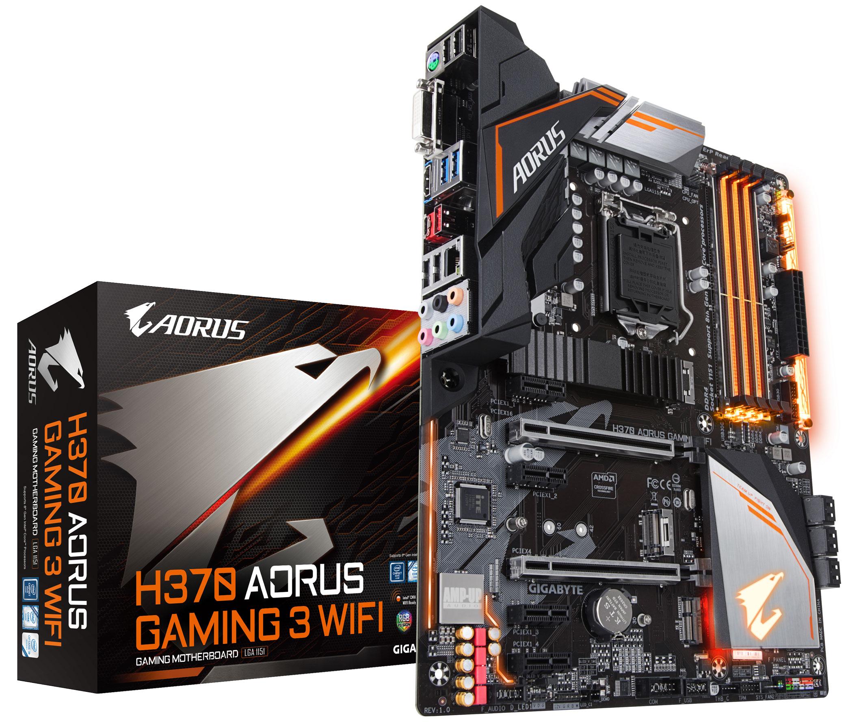 技嘉推出新世代Intel H370、B360 系列 AORUS 主機板