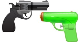 真槍實彈容易出問題?Google把Android的表情符號從寫實的左輪手槍改成可愛的水槍