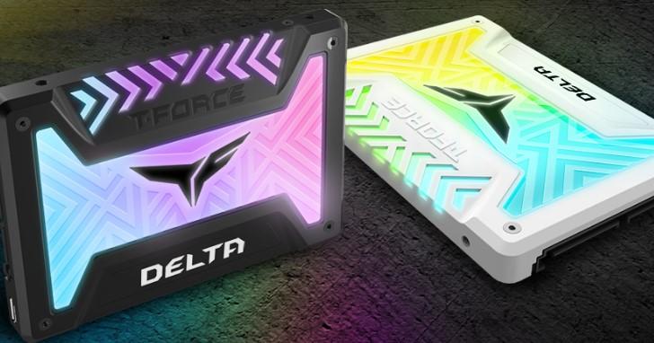 +12V RGB 與可定址 RGB,Team 推出具備大面積 RGB 燈光效果的 DELTA 與 DELTA S SSD