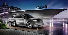 路上跑的遊艇?德國改裝廠推出 Land Rover Range Rover 6x6,6顆輪、6公尺長,就是要與眾不同!