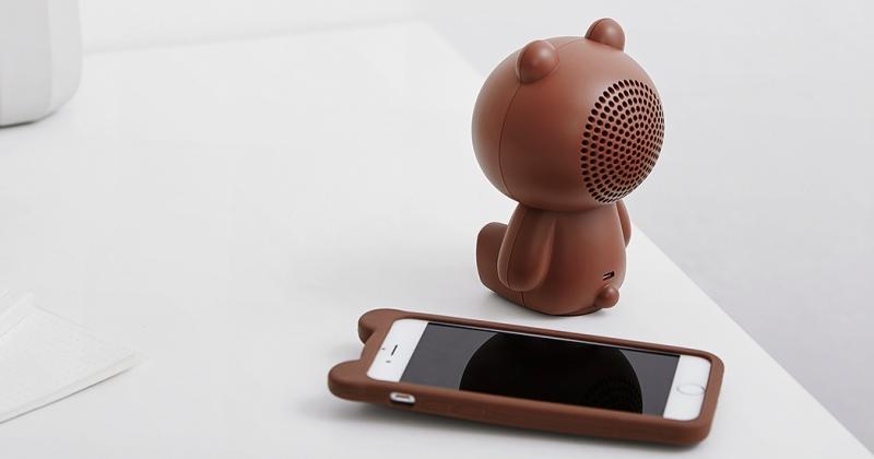 LINE 推出超可愛熊大藍牙喇叭,可連續播放音樂 12 小時