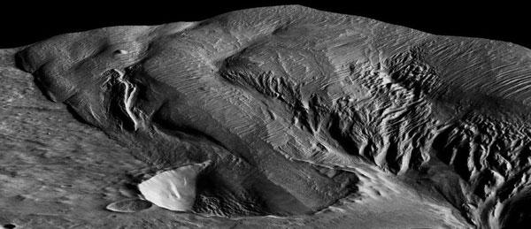 火星的神秘的岩層可能來自超級火山