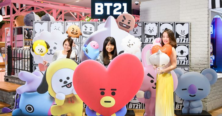 Line Friends 宇宙明星 BT21 抵台,週末推出台灣限定福袋