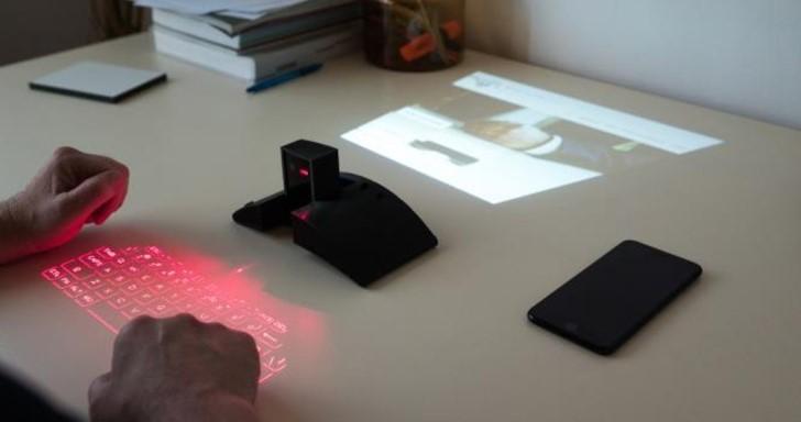 Masterkey 4.0整合雷射鍵盤與投影機,手機1秒變電腦