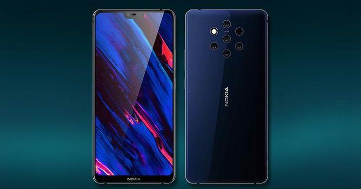 Nokia 9 有五個相機鏡頭,有些人的密集恐懼症已經要犯了