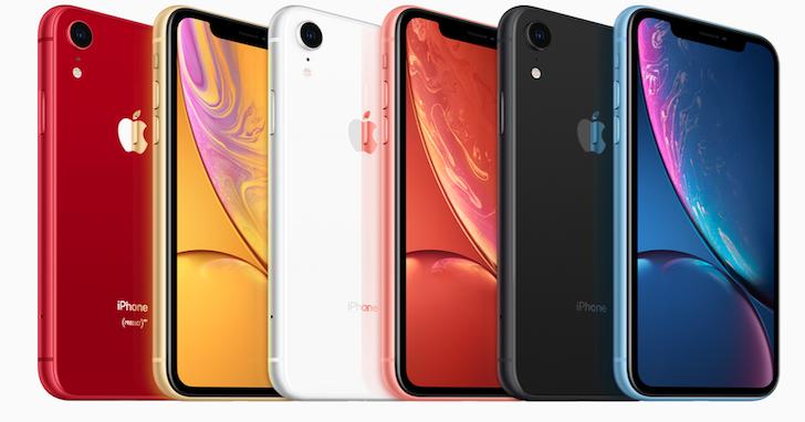 入門版 iPhone XR 不平價,繽紛6色、三種容量規格,售價NT$26900元起
